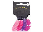 Mini Pink Telephone Cord Scrunchie Hair Bobbles