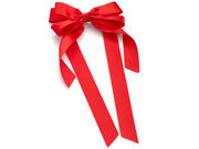 Red Bow Barrette Hair Clip