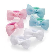 Pastel Bow Ponio Hair Donut Band Set