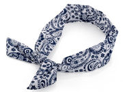 Navy White Paisley Print Wired Bandeau
