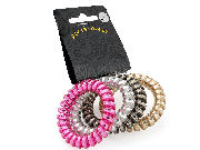 Metallic Telephone Cord Scrunchie Hair Bobbles