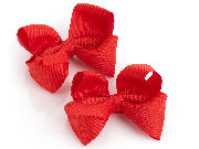 Two piece red hair bow on clip set