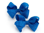 Two piece Royal Blue hair bow on clip set