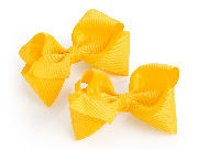 Two piece Yellow hair bow on clip set
