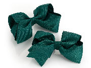 Two piece Green hair bow on clip set