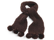 Dark Brown Chunky Knit Winter Scarf
