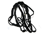 Crinkle Headband Hair Elastics - Black