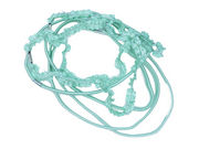 Green Pastel Crinkle Headband Hair Elastics