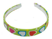 Lime Green Heart Alice Band
