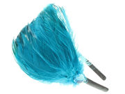 Teal Feather Plume Fascinator