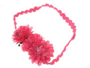 Hot Pink Flower Garland Head Band