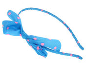 Blue Neon Bow Head Band