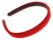 1.5cm Girls Red Velvet Headband