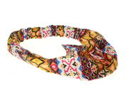 Pink Aztec Elasticated Headwrap