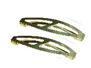 6cm Slash Barrettes - Gilt