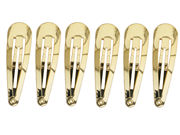 5cm Gold Hair Clip Bendies