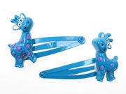 Blue Giraffe Hair Clip Bendies