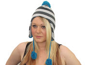 Evie Trapper Hat - Grey/Teal