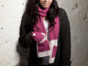 Winter Super Soft Grace Scarf - Deep Pink