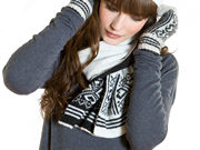 Winter Super Soft Knit Holly Scarf
