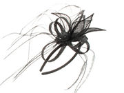 Black Petal Looped Fascinator Band