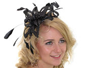 Black Lurex Twist Fascinator Band