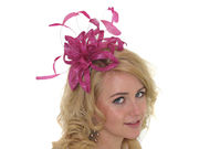 Fuchsia Lurex Twist Fascinator Band
