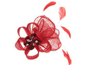 Red Crystal Fascinator Comb