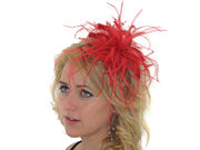 Red Star Flower Fascinator