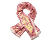 Pink Traditional Shimmer Pattern Fashion Scarf