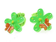 Green Flower Butterfly Bobbles