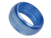 Wide Blue Bangle