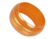 Wide Orange Bangle