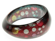 Glitter Dot Blue Bangle
