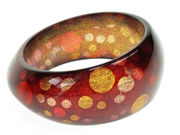 Glitter Dot Gold Bangle