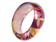 Resin Purple Flower Bangle