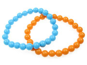 Beaded Bracelet - Blue/Orange