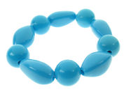 Bright Blue Beaded Bracelet