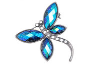 Peacock Glitter Dragonfly Brooch