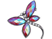Red Glitter Dragonfly Brooch