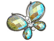 Green Glitter Butterfly Brooch