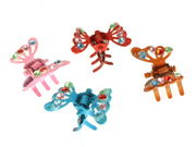 Mini Butterfly Hair Claw Clips Red
