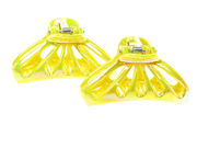 Yellow AB 5cm Hair Clamp Clips