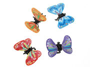 Red/Blue Fimo Butterfly Mini Clamps