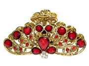 Red Vintage Gold Claw Clamp