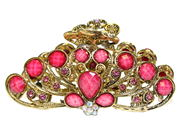 Pink Vintage Gold Claw Clamp