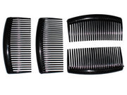 4 Pack Black Side Hair Combs