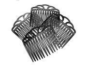 Black Open Topped Side Hair Combs