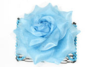 Blue Rose Double Hair Comb