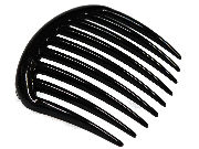Large Tooth Black Side Hair Comb
